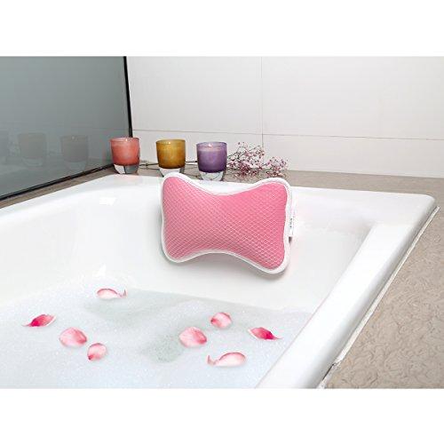 Badekissen Spa Kissen Antibakterielles Luxuriöses Kissen, 2 starke Saugnäpfe, Home Spa Rutschfeste Auflage für Badewanne, Hot Tub, Whirlpool -