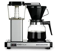 Moccamaster K 741 10-Cup Coffee Brewer with Glass Carafe, Matte Silver by Technivorm Moccamaster