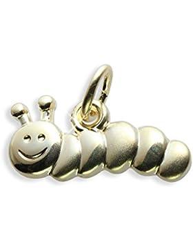 Raupe Würmchen Charms Anhänger echt 14 Karat Gold 585 (Art.206011)