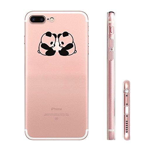 IPHONE 7plus Hülle Flamingos Katze Giraffe Weich Silikon TPU Schutzhülle Ultradünnen Case für iPhone 7plus Schutz Hülle Panda 6