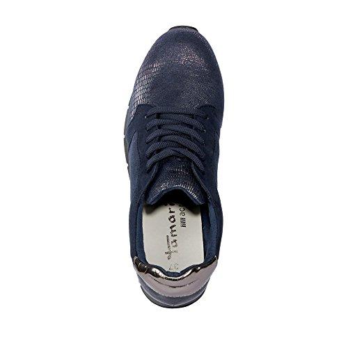 Chaussures ville Bleu Tamaris pour femme lacets à de p14gwCq