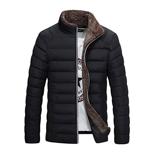 Vestiti imbottiti da uomo   Abbigliamento uomo   Cappotto di cotone caldo-freddo degli uomini giovani   Uomo cappotto   Giacca invernale black