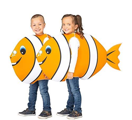 My Other Me Disfraz de Pez Payaso Naranja y Blanco para niños