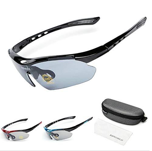 Daesar Schutzbrille Winddicht Brille Motorrad Winddicht Schwarz Grau Sonnenbrille