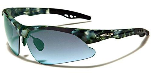 X-Loop Herren Sonnenbrille Mehrfarbig GREEN CAMO/BLUE LENS