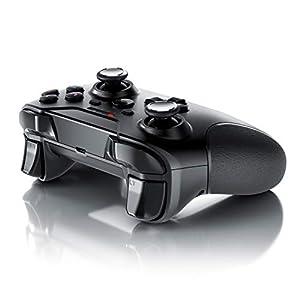 CSL – Wireless Gamepad für PS3 – Controller kabellos mit 2,4 Ghz Dongle – hochwertige Analogsticks – geringe Deadzone – schnelle Reaktionsgschwindigkeit – Gummierung für sicheren Grip