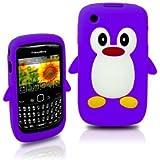 Tinkerbell Trinkets® Violet Mignon Pingouin Manchot Etui Coque Housse Pour Blackberry Curve 8520 8530 9300 3G