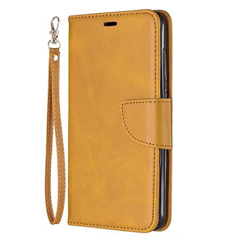 Tosim Xiaomi Pocophone F1 Hülle Leder, Klapphülle mit Kartenfach Brieftasche Lederhülle Stossfest Handyhülle Klappbar Case für Xiaomi Pocophone F1 - TOBFE150622 Gelb