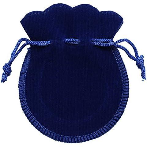 10pcs Bolsas De Lazo Del Regalo Del Partido De Boda Bolsas De Terciopelo Joyería - Azul, 7 * 9cm