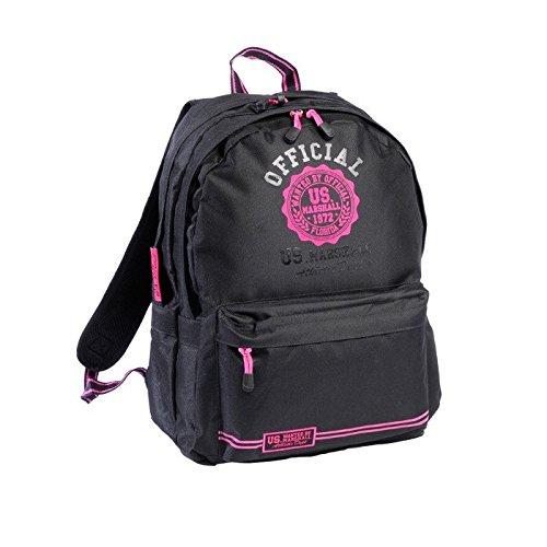 us-marshall-sac-dos-enfants-2-compartiments-45-cm-rose-rose-noir