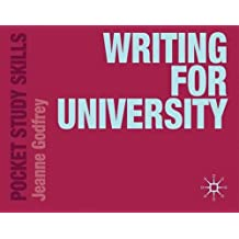Writing for University (Pocket Study Skills)