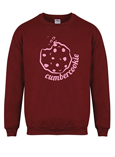 cumbercookie-unisex-fit-sweater-fun-slogan-jumper-small-chest-34-36-inches-maroon-pink