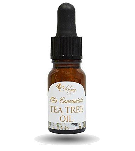 Olio essenziale di tea tree oil puro biologico, uso esterno e interno 10ml