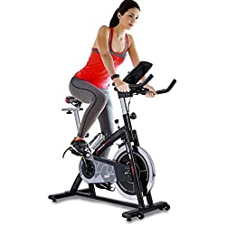 Sportstech professional Indoor Cycle SX200 with smartphone app control, 22KG flywheel, arm support, pulse belt compatible – Speedbike with low-noise belt drive system