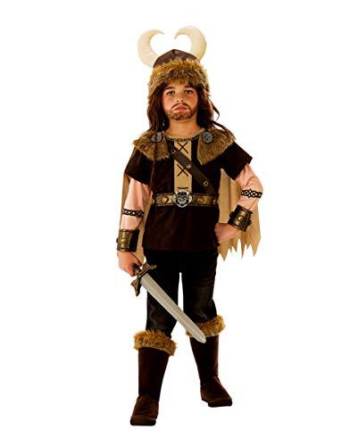 Kostüm König Barbaren - Horror-Shop Vikinger Krieger König Kinderkostüm für Halloween und Karneval S