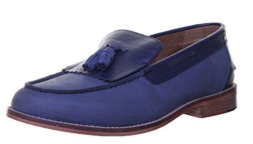 Justin Reece Melvin Matt Chaussures en cuir pour homme Bleu - Navy RK1