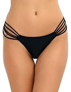 iEFiEL Bañador Braguita Bikini Braga Tanga de Traje Ropa de Baño para Mujer Suave