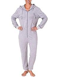 fa823462cfd4c5 Damen Schlafanzug Einteiler Jumpsuit Langarm in toller Tupfenoptik - 281  267 90 130