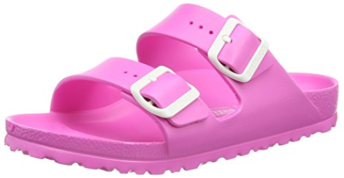 BIRKENSTOCK Classic Arizona Eva, Damen Pantoletten, Pink (Neon Pink), 40 EU