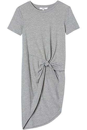 FIND Damen T-Shirt Knotted Tunic Grau (Grey Marl)