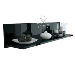 wandregal winkelregal skadu in schwarz hochglanz k che haushalt. Black Bedroom Furniture Sets. Home Design Ideas