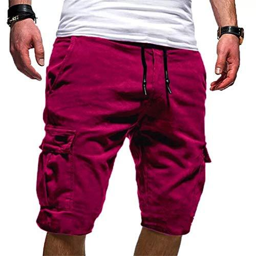 Alaso - Pantalones Cortos Running Hombre Bolsillos