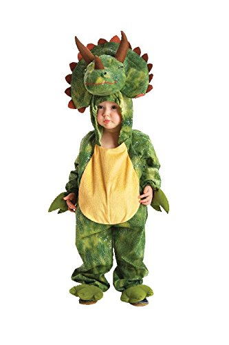 Kinder Kostüm Dino Triceratops als Dinosaurier zu Karneval Gr.5-6 J. (Dino 2 Kinder Kostüme)
