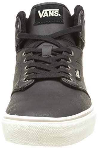 Vans M Atwood Hi Leather, Baskets Basses Homme Noir (Leather/Black/Aluminum)