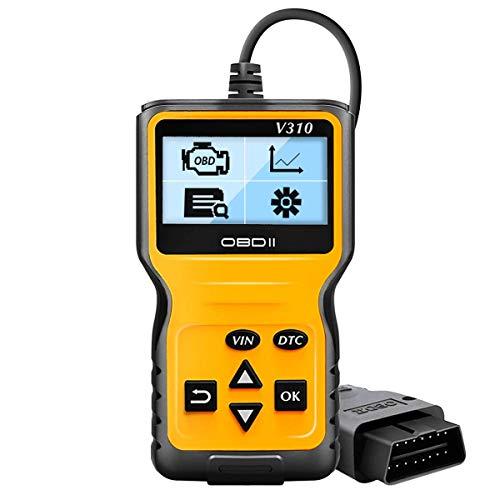 SLKQCYP Strumento di scansione diagnostico Can per Tutti i protocolli OBD II Scanner per Auto OBD2, Lettore OBD Enhanced Universal Car Engine Fault Code Reader