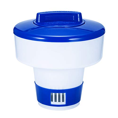 TiooDre Schwimmdock Dispenser, 5/8 Zoll Schwimmdock Chlor-Zufuhr Schwimmbäder Dispenser Pool Spa Whirlpool Chemical Dispenser -