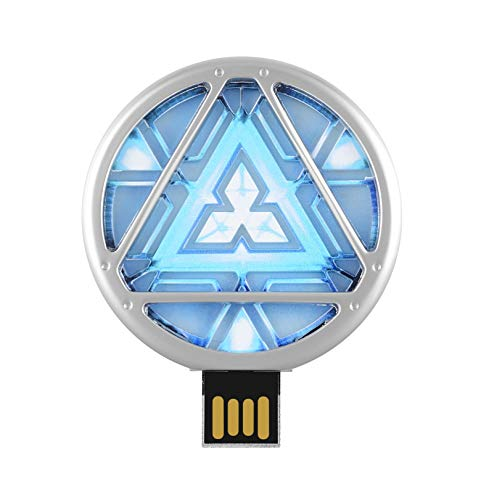 Kind 2 Avengers Thor Kostüm - Arc Reactor USB Stick 8GB Marvel Avengers | Speicherstick 2.0 High Speed Pendrive Memory Stick Lustige Geschenke 3D Figur Gadget Schlüsselanhänger