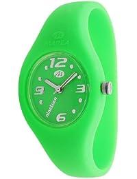 Marea nineteen - Reloj analógico unisex de cuarzo con correa de silicona verde - sumergible a 50 metros
