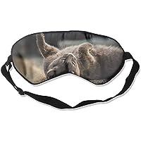 Eye Mask Eyeshade Cat Lying On Ground Sleep Mask Blindfold Eyepatch Adjustable Head Strap preisvergleich bei billige-tabletten.eu