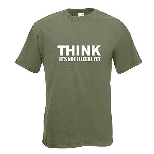 KIWISTAR - Think it's not illegal T-Shirt in 15 verschiedenen Farben - Herren  Funshirt