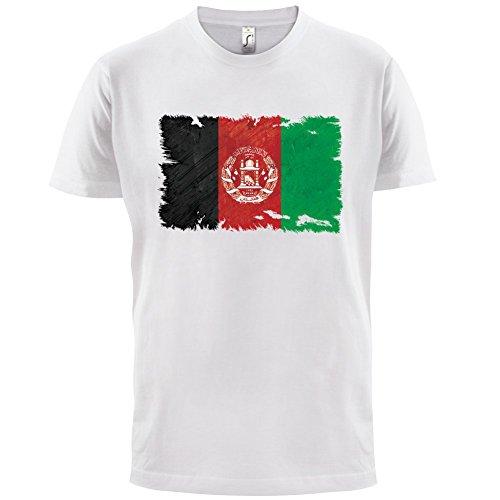 Afghanistan Flagge im Grunge-Stil - Herren T-Shirt - Weiß - S (T-shirt Afghanistan Weißes)