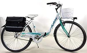 """transportín económico: SPEEDCROSS Bicicleta 26″ Mujer """"Fashion"""" Senza Shifter + Cesta y bolsas Incluyen..."""
