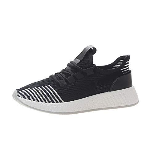 XLY Sneakers da Donna Maglie ultraleggere e Traspiranti Moda Palestra Tennis Sport Scarpe da Corsa a Piedi,Nero,40