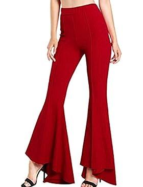 Suvimuga Mujeres Pantalones Largos, Pantalones De Campana, Tramo De Cintura Alta Pantalones De Campana