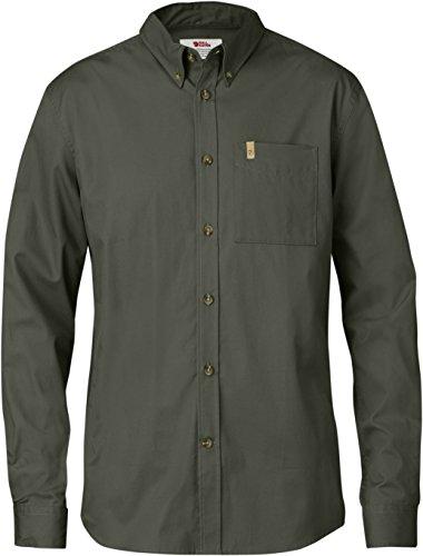 FJÄLLRÄVEN Herren Övik Solid Twill Shirt LS Hemd, Mountain Grey, 3XL - Ls Baumwoll-twill Hemd