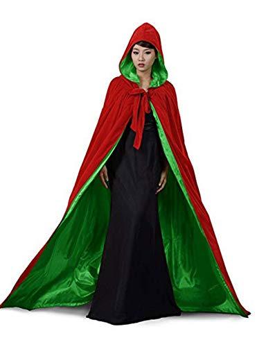 Special Bridal Unisex Renaissance Kapuzen Umhang Long Samt Cape für Weihnachten Halloween Cosplay Kostüme
