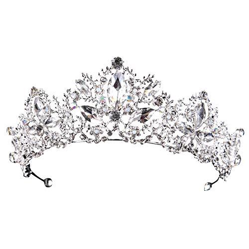 Corona d'Epoca Corona Nuziale Perla Copricapo Corona di Strass Corona di Perle per Principessa Accessori da Sposa Corona di Copricapo Nuziale di Cristallo