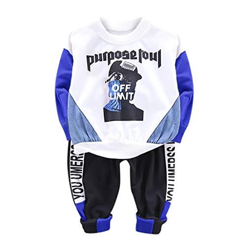 Jaysis Kleinkind Baby Baumwolle Outfit Set für 0-24 Monate Langarm Kinderbekleidung Baumwollmischung Cartoon Lange Ärmel Lange Hose Junge Mädchen (Kleinkind Barbie Märchen Kostüm)
