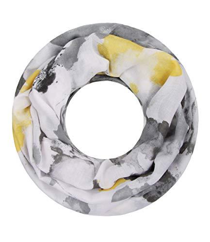 Majea super weicher Damen Loop Schal viele Farben Muster Schlauchschal Halstuch in aktuellen Trendfarben (grau 18)