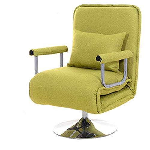 WANGZRY Computer Gaming Stuhl Swivel Multifunktionale Büro Stuhl Klappstuhl Wohnzimmer Liege Stuhl Einfachen Klapp Sofa Bett Lift,Yellow