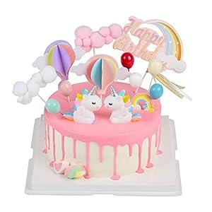 EKKONG Cake Topper Unicornio, Decoraciones