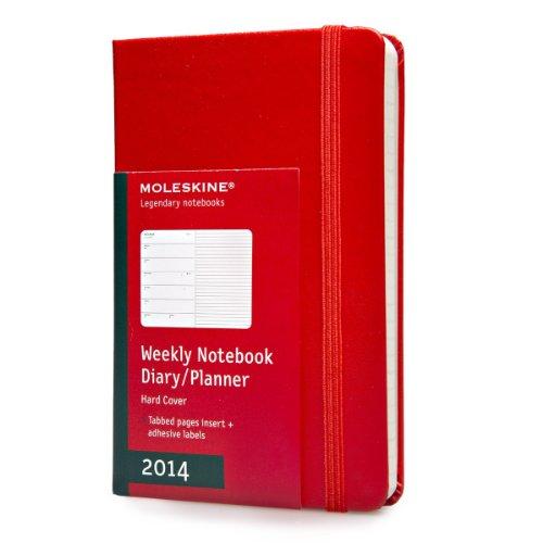 Moleskine Pocket Size Hard 12 Months 2014 Weekly Notebook - Red por Moleskine