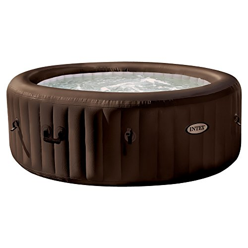 Intex PureSpa - Spa hinchable de 4 jets, sin color salino, 4 personas, 795 l - color chocolate (55007)