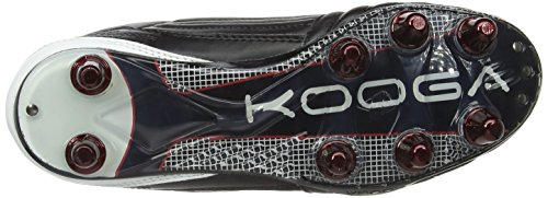 Kooga Kp Warrior Lcst Venom, Chaussures de rugby mixte adulte Noir (Black/White/Red)