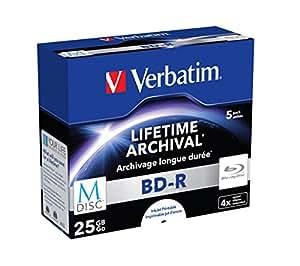 BD-R M-disc Single Layer 4xScratchguard surf. 5 Pack