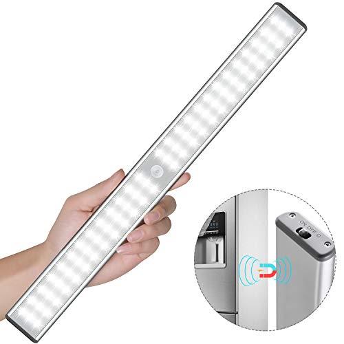 Schrankleuchten mit Bewegungsmelder 78 LED USB Wiederaufladbar Magnetisch Bewegungsmelder Nachtlicht LED, Auto/ON/OFF Geeignet für Schrank Kinderzimmer Flur Schlafzimmer Küche Treppe